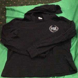 Pink black hoodie